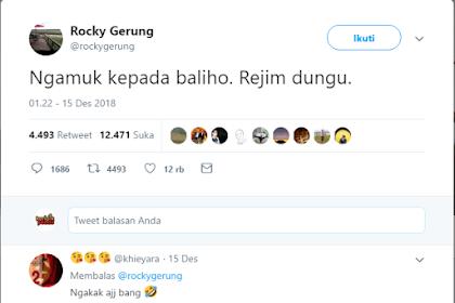 Atribut Partai Demokrat Dirusak, Rocky Gerung: Ngamuk kepada Baliho, Rezim Dungu