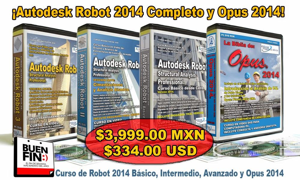 Autodesk Robot Structural Analysis Professional 2014 precio barato