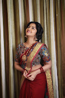 Anupama Parameswaran Gorgeous in Saree Photos TollywoodBlog