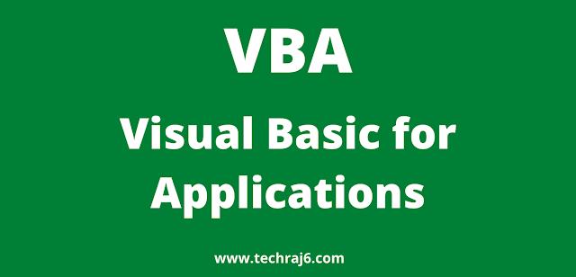 VBA full form, What is the full form of VBA
