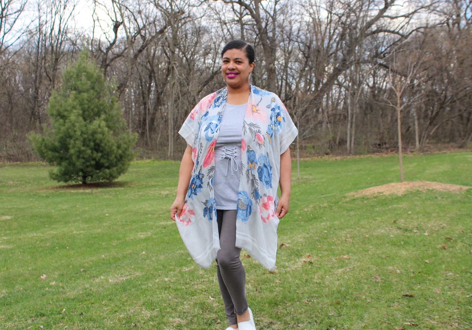 a woman wearing a lightweight kimono