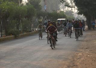 शनवारा चौराहा से मरीचिका गार्डन तक साईकिल रैली का हुआ आयोजन