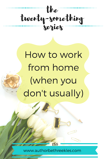 Working from home can be tough, especially when you don't normally. In this post, I share some top tips on how to cope!