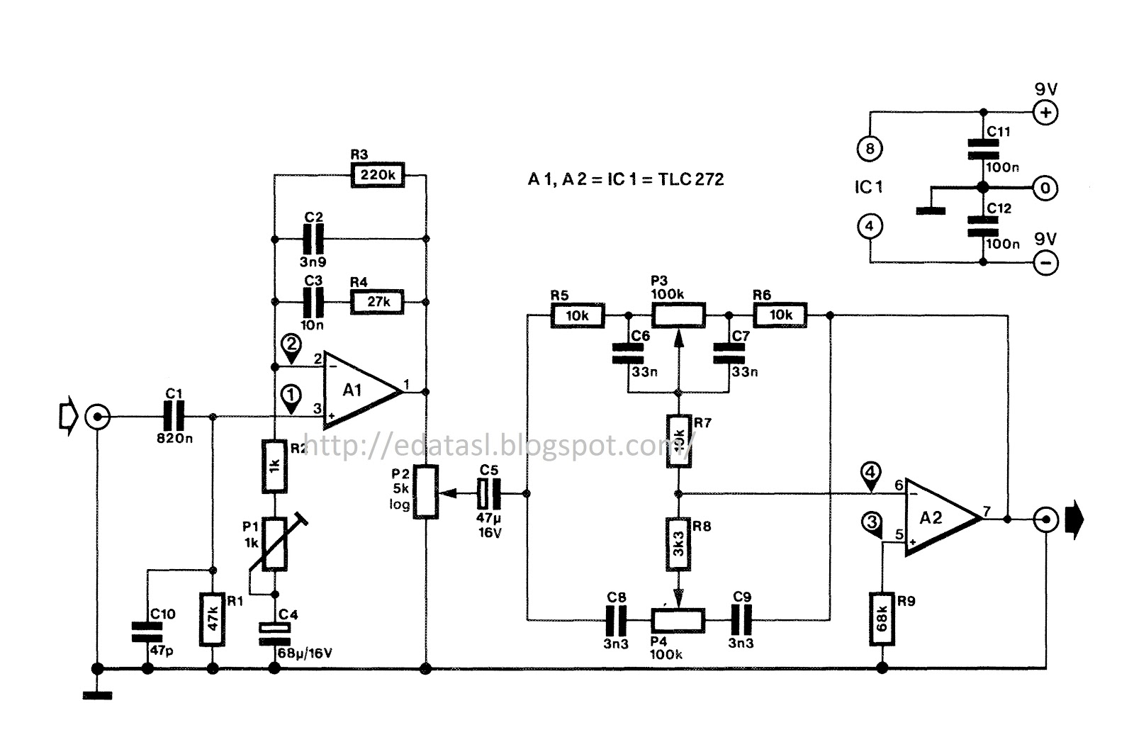 Electronic Circuit Componnent Data Lesson And Etc 2012 Circuits Lm3909 Led Flasher Simple 555 One Transistor Here Is The Good What I Found With Sharp Tone Controllerfor Best Performance Use Very Smooth Power Supply For This Shown