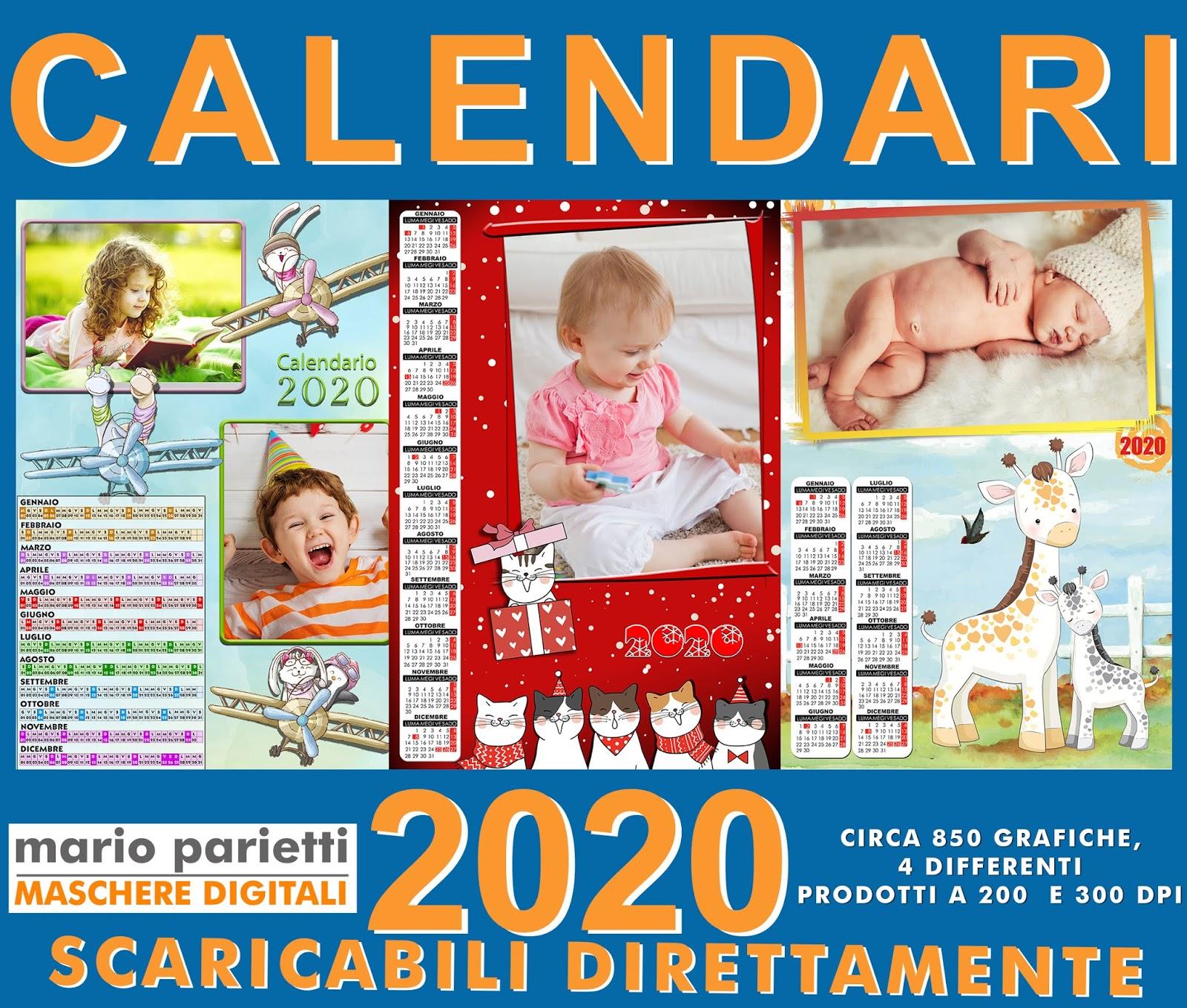 Calendario 2020 Santi.Risorse Per Photoshop