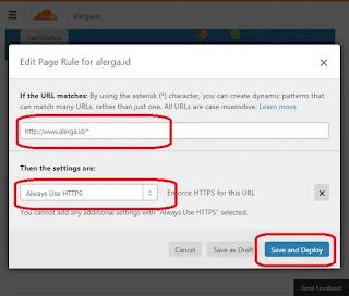 ADD SETTING dan pilih ALWAYS USE HTTPS