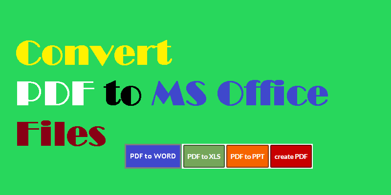 ms office file convert to pdf