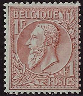 Belgium 1884 Leopold II 1 Franc