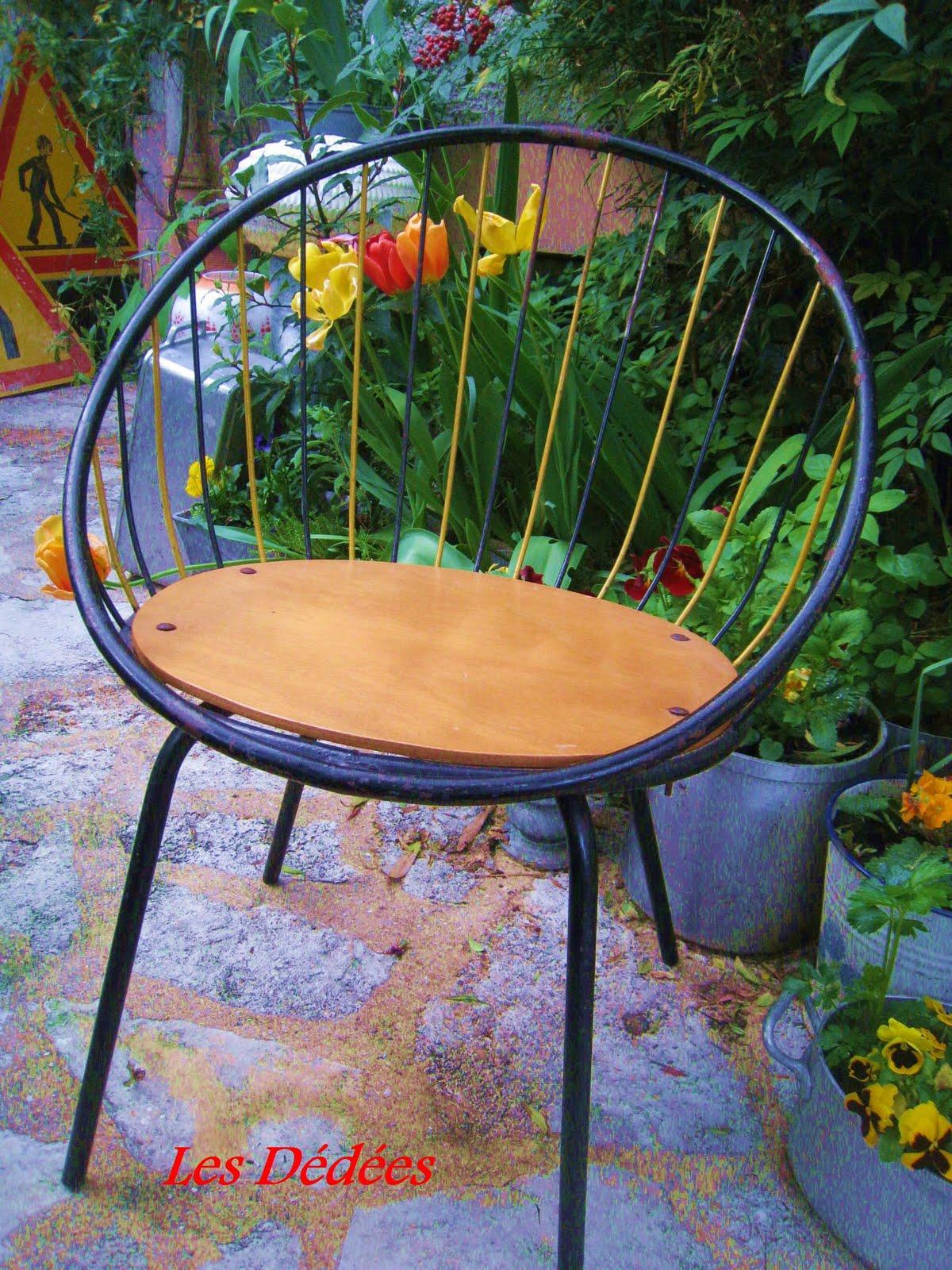 les dedees vintage recup creations fauteuil rayon de soleil 50 39 s 60 39 s by anne. Black Bedroom Furniture Sets. Home Design Ideas