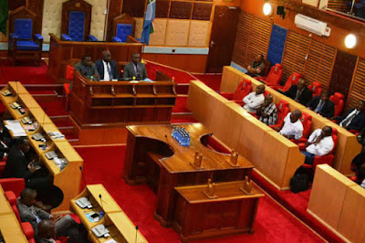 County Assembly members debate. PHOTO | BNC