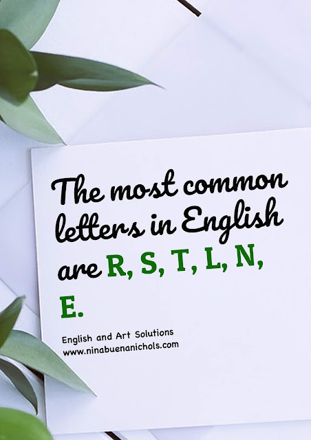 most common letters in english