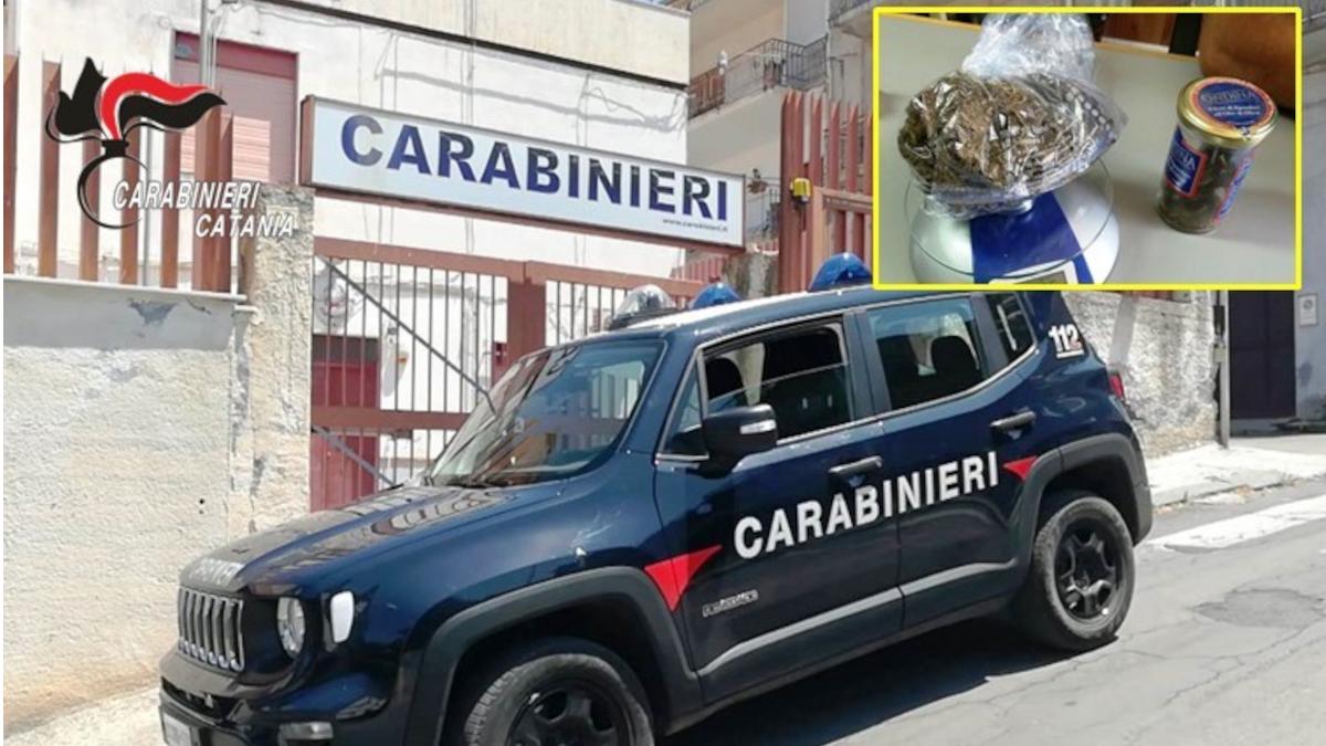 Carabinieri contatore elettrico marijuana Santa Maria di Licodia
