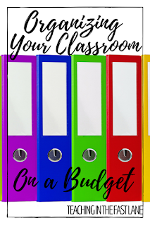 Ideas that will help organize a classroom on any budget!