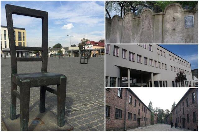 Monumento de las sillas – Restos del mundo del antiguo gueto de Podgorze – Fabrica de Oskar Schindler en Cracovia – Campo de concentración de Auschwitz-Birkenau