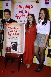 Sonakshi Sinha Karan Johar at Aishwarya Rajinikanth Standing on an Apple Box Book Launch Event  0056.jpg