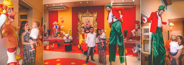 Festa infantil animação com artistas de circo