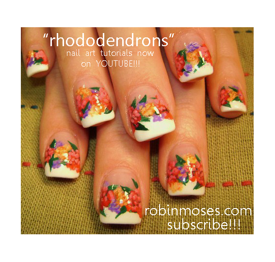 Nail Art By Robin Moses Wicked The Musical Nails Rhododendron