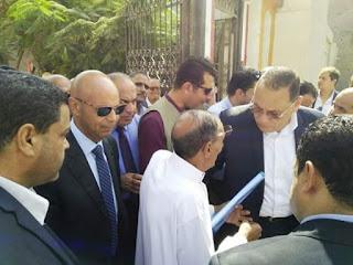 غراب و وكيل وزارة الصحة يتفقدون الوحدة المحلية بصافور بديرب نجم