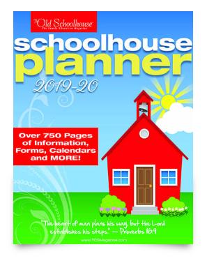 cover of Schoolhouse Planner 2019-2020 from SchoolhouseTeachers.com