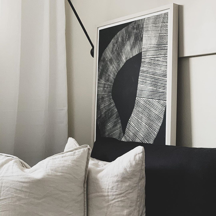 Abstract 696 Art Print by Studio Paradissi in exclusive collaboration with The Poster Club as seen in your homes