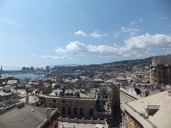 gênes genova via garibaldi strada nuove palazzi dei rolli palazzo rosso vue panorama