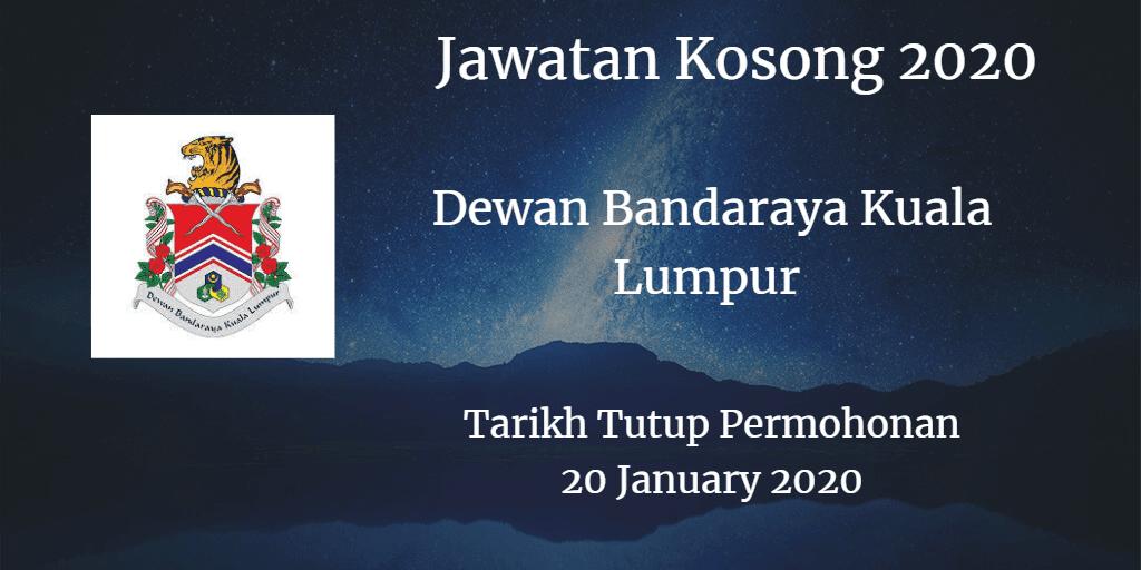 Jawatan Kosong DBKL 20 January 2020