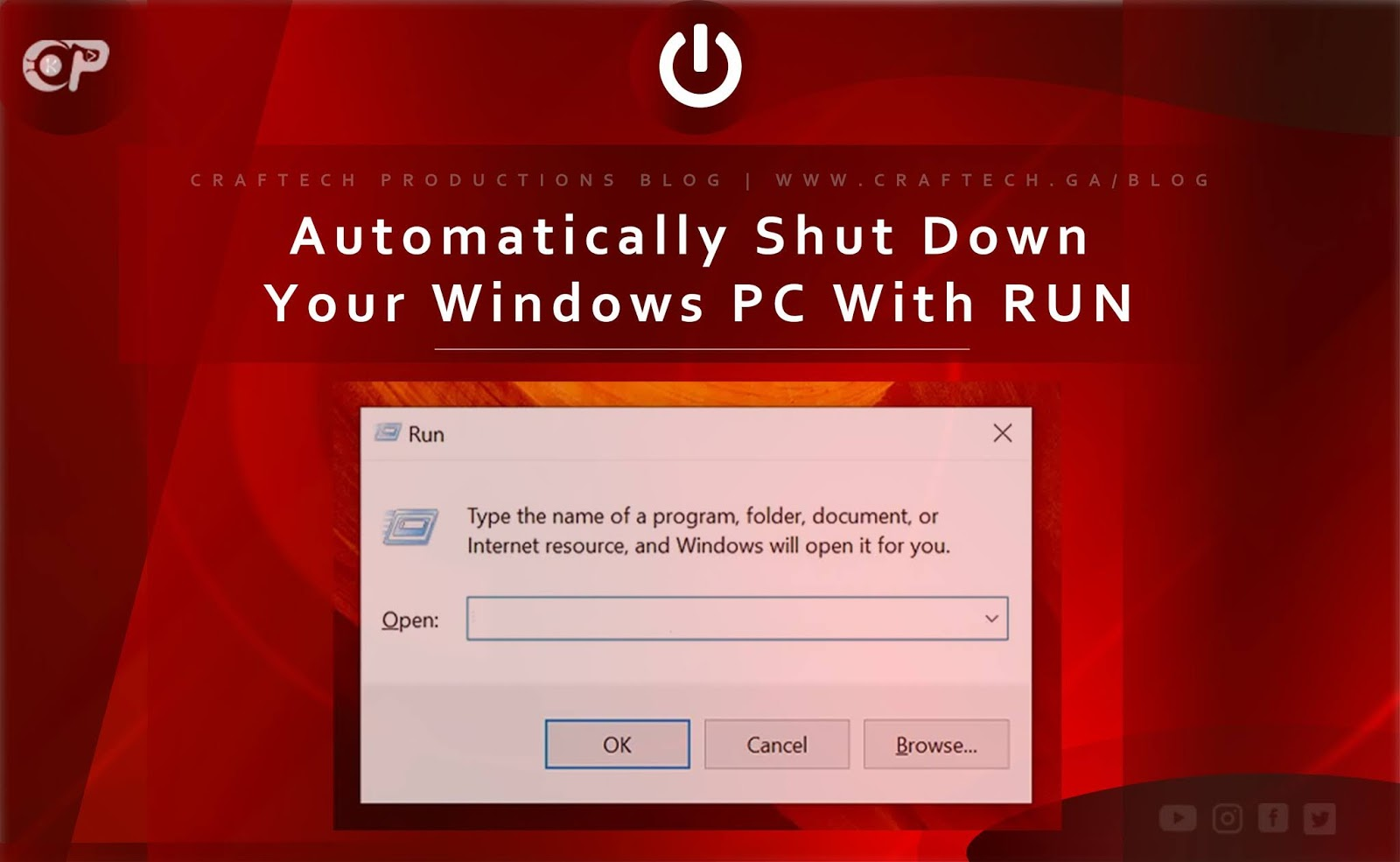 Automatically Shut Down Your Windows PC With RUN