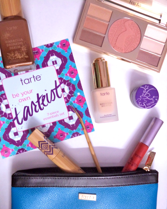 "UNBOXING | Tarte ""Be Your Own Tartetist"" 7-Piece Essentials Kit for June 2015, Tarte Lipsurgence Lip Gloss in Natural Beauty, Amazonian Clay Waterproof Liner in Plum review and swatches"