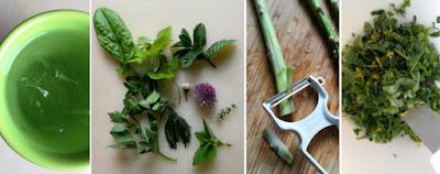 Zubereitung Spargel-Räucherforellen-Türmchen mit grünen Spargeln