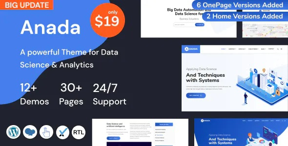 Best Data Science and Analytics Saas WordPress Theme