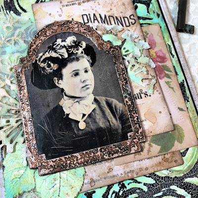 Frilly and Funkie https://frillyandfunkie.blogspot.com/2019/04/saturday-showcase-seth-apters-baked.html Spring Card Tutorial with Tim Holtz 3D Embossing Seth Apter Baked Velvet by Sara Emily Barker 12