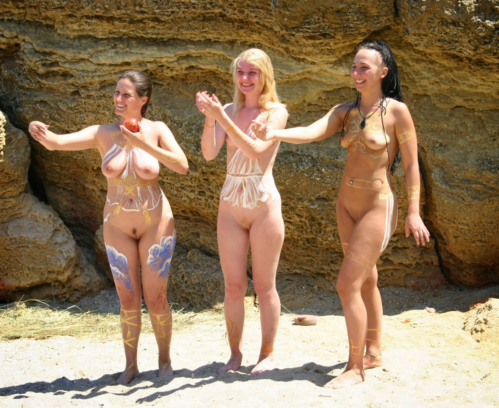Nudism beach nude
