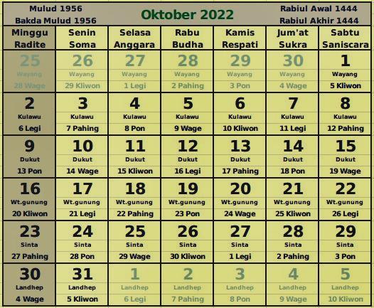 download kalender oktober 2022