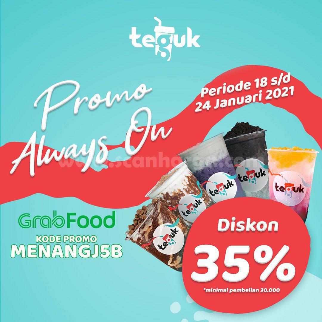 TEGUK Promo Spesial GRABFOOD Always On! Diskon hingga 35%