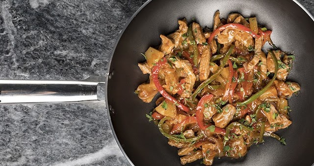 Γλυκόξινο χοιρινό με λαχανικά