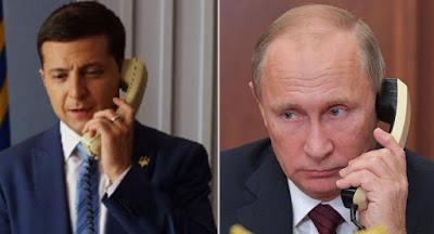Зеленский позвонил Путину по поводу обстрелов на Донбассе