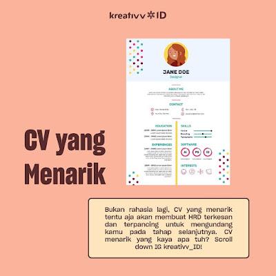 tips melamar pekerjaan CV yang menarik