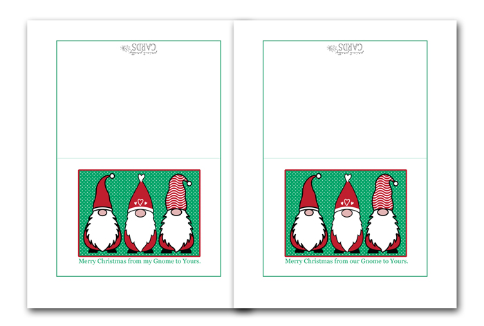 Free Printable Gnome Holiday Cards