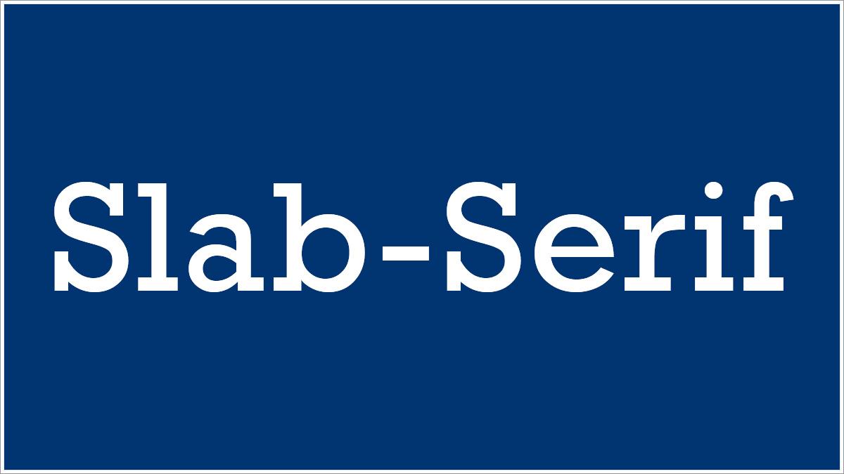 Slab-Serif