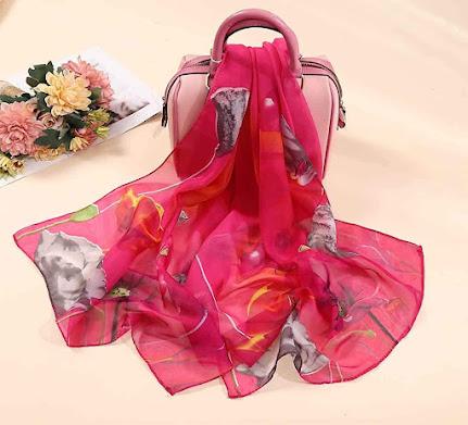 Soft Chiffon Scarves Shawls Wraps With Beautiful Patterns