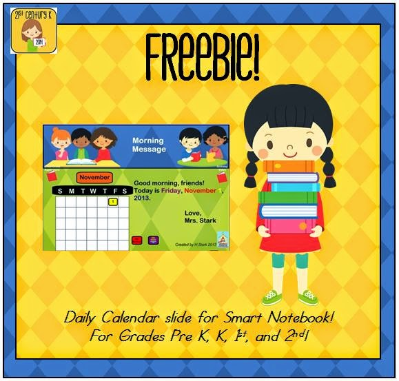 http://www.teacherspayteachers.com/Product/FREEBIE-Interactive-Calendar-for-SMART-Board-PK-K-1st-957653