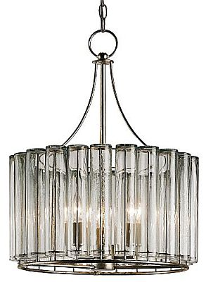Silver Leaf And Glass Modern Chandelier This Is The Smallest Of Four Fits Nicely In Foyers For Dining Distressed