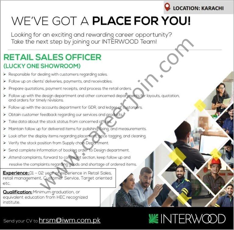 hrsm@iwm.com.pk - Interwood Mobel Pvt Ltd Jobs 2021 in Pakistan