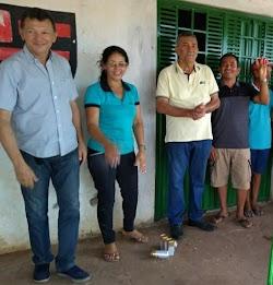 Ex-prefeito Salomão Barbosa é recebido no povoado Baixão do Côco para um almoço