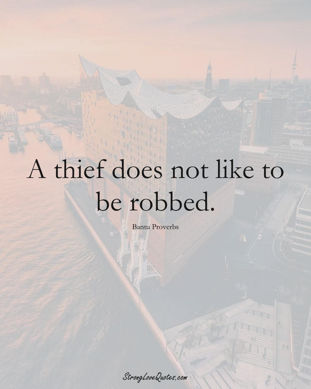A thief does not like to be robbed. (Bantu Sayings);  #aVarietyofCulturesSayings