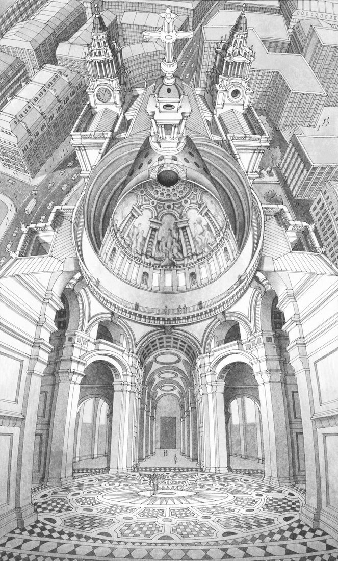 07-St-Paul-s-Cathedral-London-Stephen-Biesty-Historical-Architectural-Buildings-Inside-out-Drawings-www-designstack-co