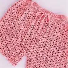 Pantalón Corto o Short a Crochet