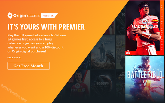 Get Free Origin Access Basic for Month & keep your account secure