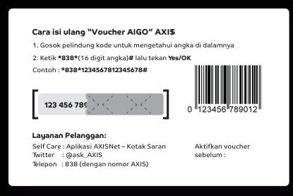 Cara Isi Voucher Axis AIGO Paket Data Internet Terbaru