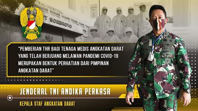 Kasad Alokasikan THR Bagi Tenaga Medis Rumah Sakit TNI AD